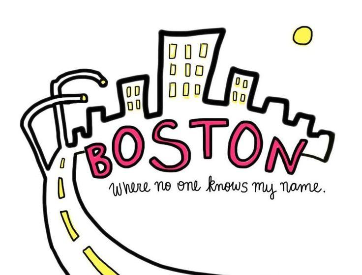boston tekening