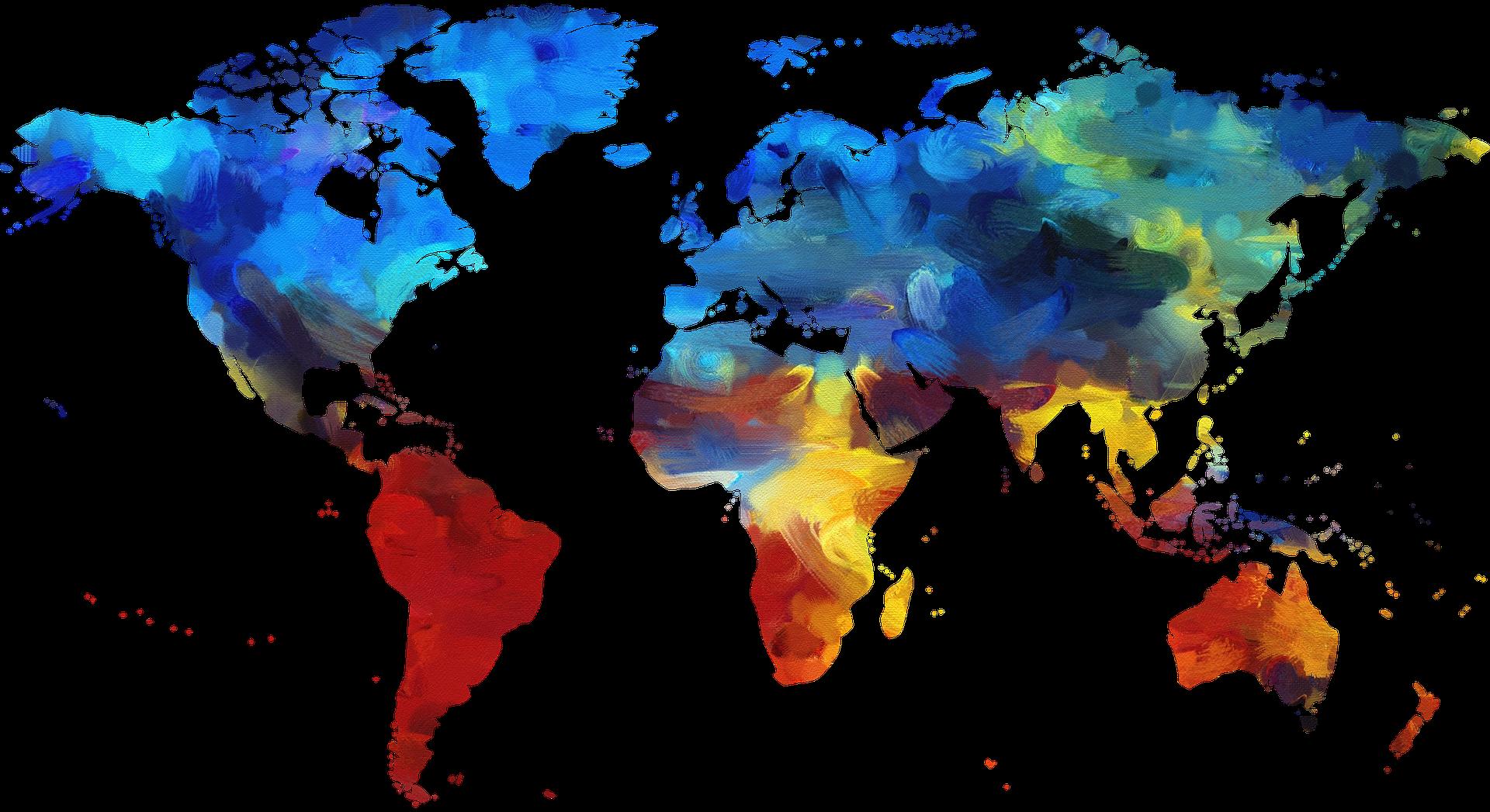 kleurrijke wereldkaart